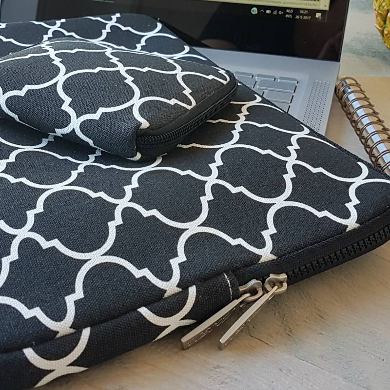 15inch Dames Laptop Sleeve Persian Zwart
