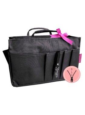 Bag in Bag - Medium - Classic - Rits - Zwart