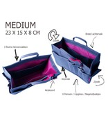 Bag in Bag Medium Classic Rood Rits