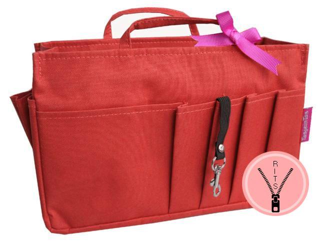 Bag in Bag - Medium - Classic - Rood - Rits