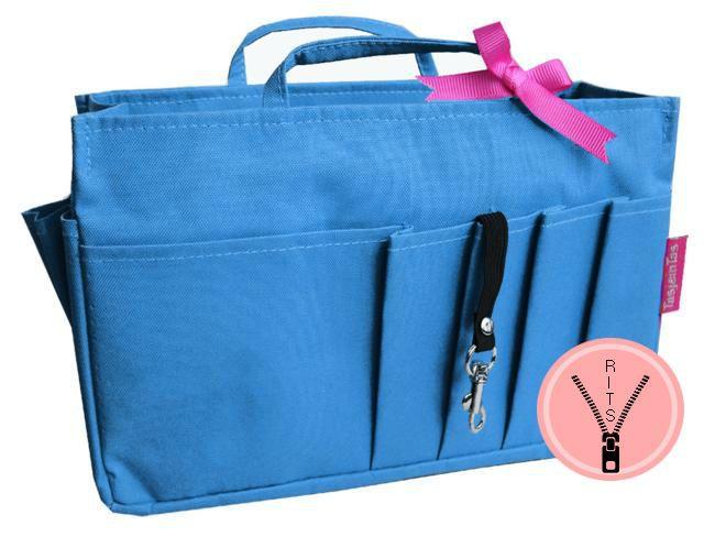 Bag in Bag - Medium - Classic - Blauw - Rits