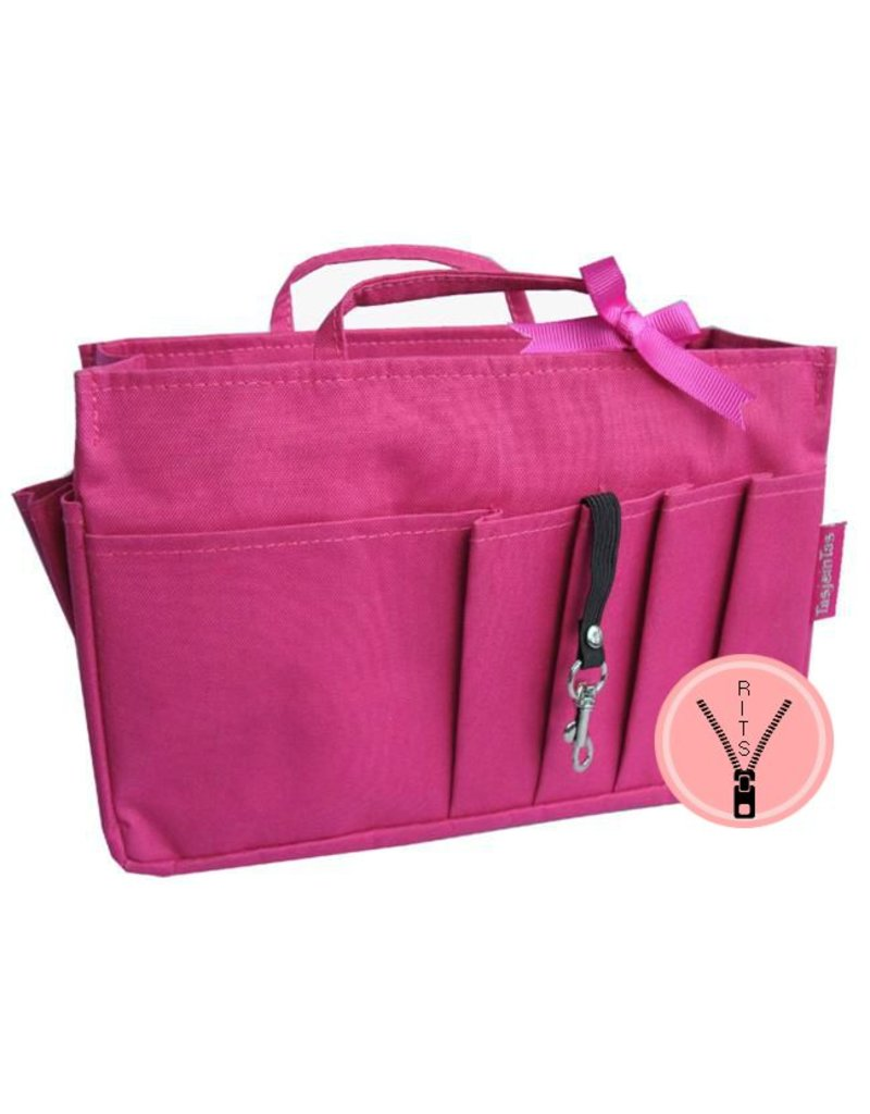 Bag in Bag - Large - Classic - Roze - Rits