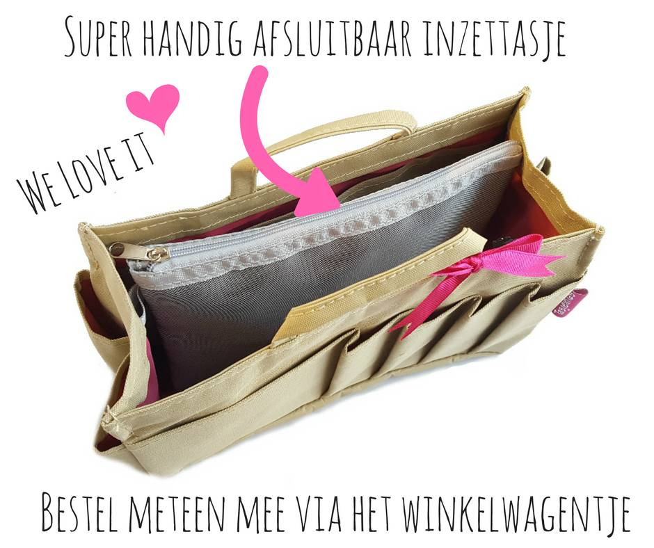 Bag in Bag - Small - Classic - Bruin - Rits