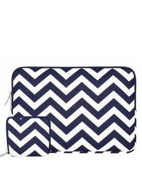 13inch-Dames-Laptop-sleeve-Zigzag-Donkerblauw