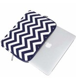 15inch Dames Laptop Sleeve Zigzag Zwart