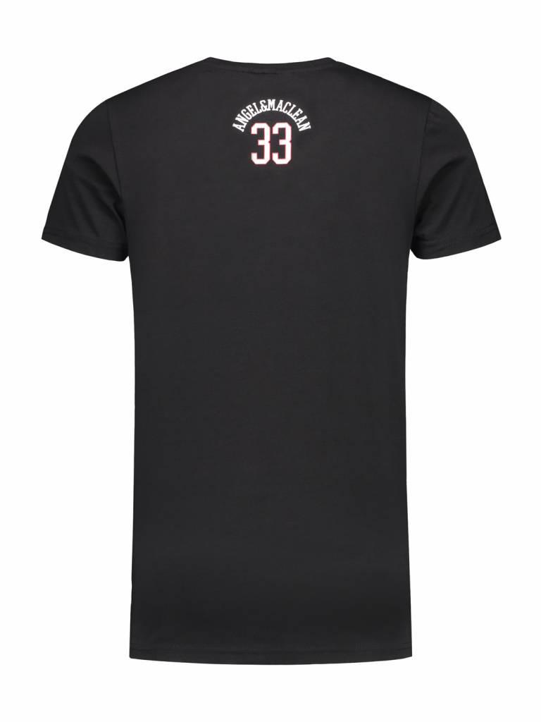 ANGEL&MACLEAN Black Paris City T-shirt