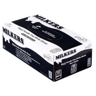 Barber Healthcare Gants de traite nitrile MILKERS non-poudré noir épais (10x100)