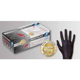 UniGloves Selectblack latex poedervrij zwart (10x100)