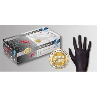 UniGloves Latex handschoenen poedervrij zwart Selectblack (10x100)