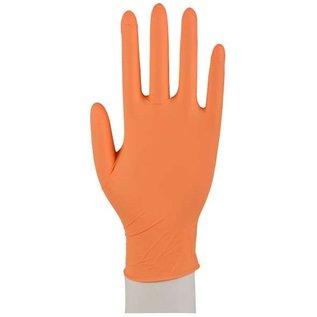 ABENA Nitril handschoenen poedervrij oranje Sensitive (10x100)