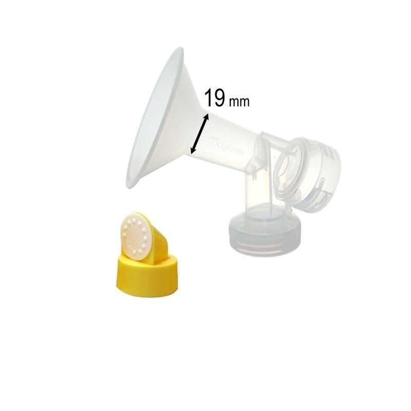 Medela 19 mm borstschild met connector