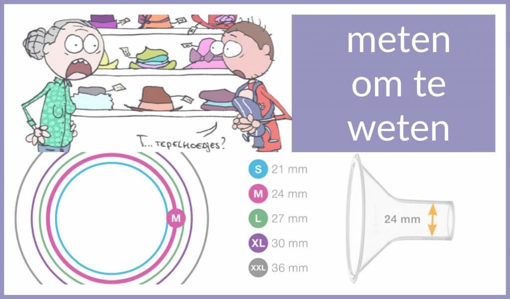 Borstvoedingszaken: de maat van een borstschild en tepelhoedjes