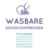 MoM&E Wasbare Zoogcompressen Bamboe 4 set
