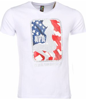Mascherano T-shirt - NPA Print - Wit