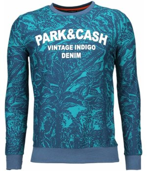 Black Number Park&Cash - Sweater - Groen