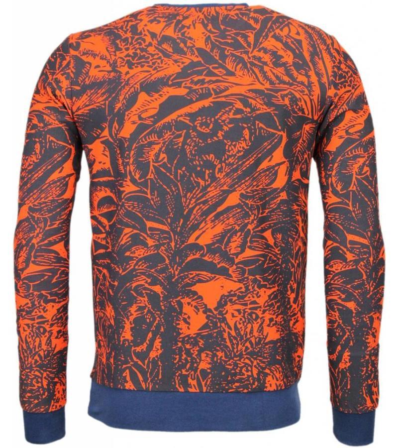 Black Number Park&Cash - Sweater - Oranje