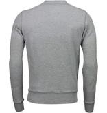 Bread & Buttons Crew Text Borduur - Sweater - Grijs