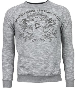 Enos New York City Print - Sweater - Grijs