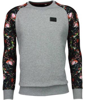 Local Fanatic Rozen Skull Arm Motief - Sweater - Grijs