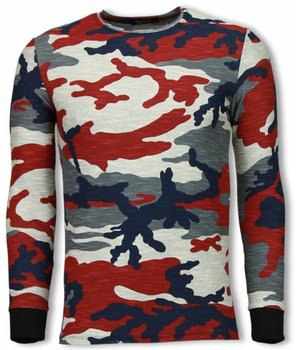 Uniplay Army Shirt Zipped Back - Long Fit Sweater - Camo