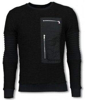 John H Ribbel Arm met Kevlar Pocket - Sweater - Zwart