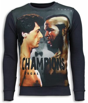 Local Fanatic Rocky III - Sweater - Donker Grijs