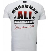 Local Fanatic Muhammad Ali - Rhinestone T-shirt - Wit