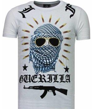 Local Fanatic Freedom Fighter - Rhinestone T-shirt - Wit