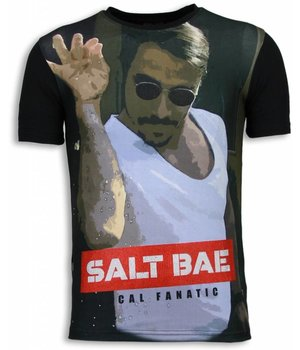 Local Fanatic Salt Bae - Digital Rhinestone T-shirt - Zwart