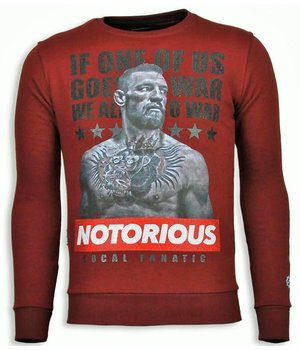 Local Fanatic Conor McGregor - Rhinestone Sweater - Bordeaux