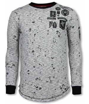 Local Fanatic Longfit Embriordry - Sweater Patches - Guerrilla - Grijs