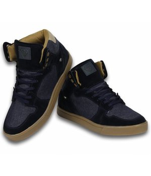 Cash Money Heren Schoenen - Heren Sneaker High - Denim Navy