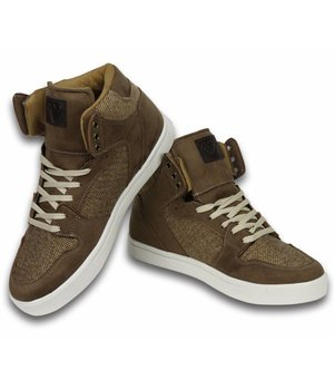 Cash Money Heren Schoenen - Heren Sneaker High - Riff Taupe
