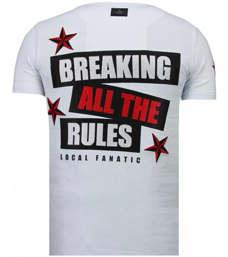 Local Fanatic Marilyn Rockstar - Rhinestone T-shirt - Wit