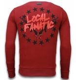 Local Fanatic Bad Boys - Rhinestone Sweater - Bordeaux