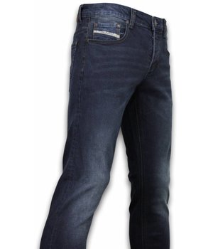 Orginal Ado Exclusive Basic Jeans - Regular Fit Casual 5 Pocket - Donker Blauw