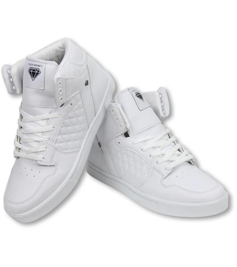 Cash Money Heren Schoenen - Heren Sneaker High - Jailor White Matt