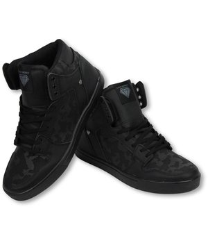 Cash Money Heren Schoenen - Heren Sneaker High - Army Full Black