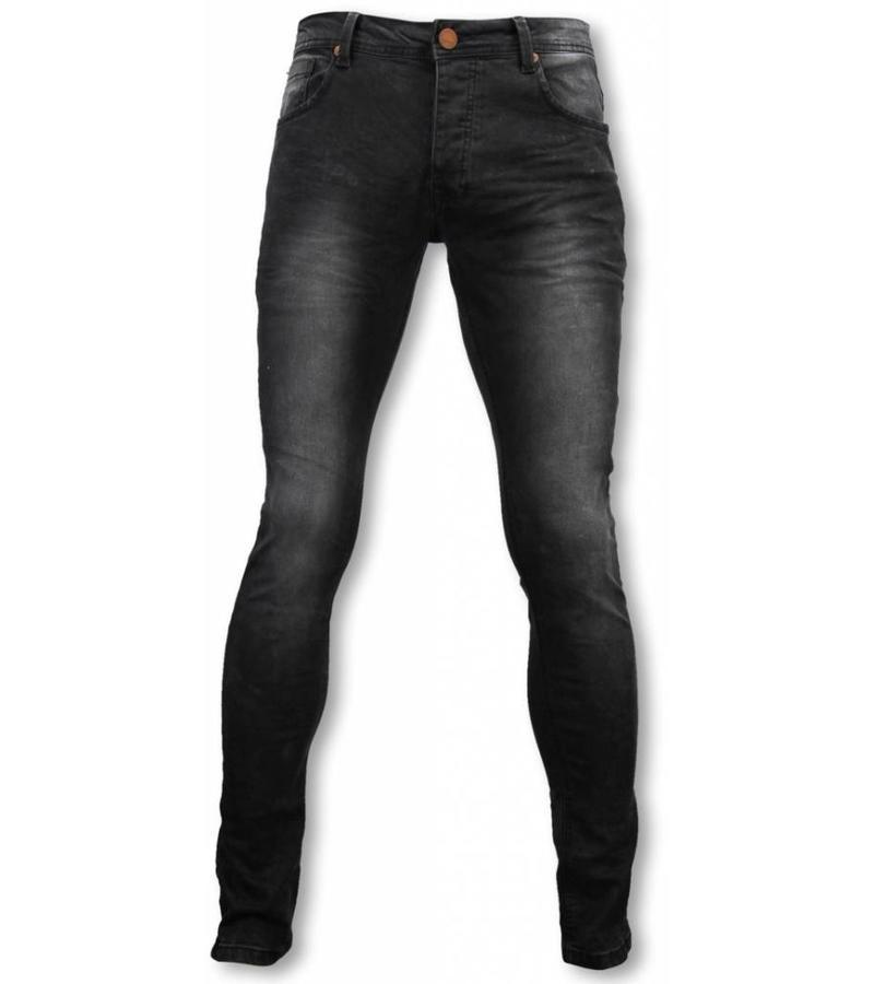 Hard Soda Denim Exclusive Basic Jeans - Slim Fit Strecht Washed 5 Pocket - Zwart