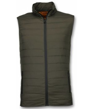 Y chromosome Bodywarmer Heren - Casual Bodywarmer - Groen