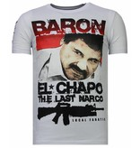 Local Fanatic Cocaine Cowboy - Rhinestone T-shirt - Wit