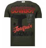 Local Fanatic Cocaine Cowboy - Rhinestone T-shirt - Khaki