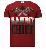 Local Fanatic Bandit Chief - Rhinestone T-shirt - Bordeaux