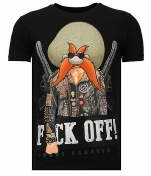 Local Fanatic Bandit Chief - Rhinestone T-shirt - Zwart