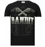 Local Fanatic Bandit Chief - Rhinestone T-shirt - Zwart