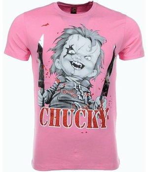 Mascherano T Shirt Herren  - Chucky - Rosa