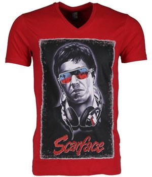 Mascherano T Shirt Herren - Scarface - Rot