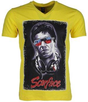 Mascherano T Shirt Herren - Scarface - Gelb
