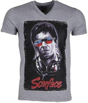 Mascherano T Shirt Herren - Scarface - Grau