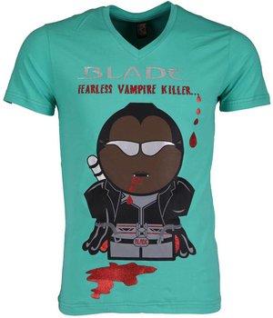 Mascherano T Shirt Herren - Blade Fearless Vampire Killer - Grün